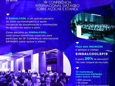 19ª Conferência Internacional DATAGRO 2019.